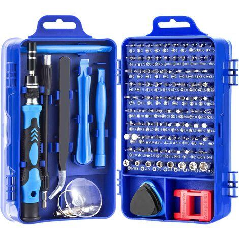 115 EN 1 Mini Set Tournevis Precision,Kit Tournevis de Précision pour machine à laver, climatiseur, réfrigérateur, ventilateur électrique, télévision, ordinateur,macbook,iphone,montre Bleu