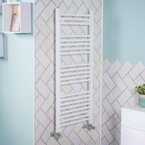 1150x500 Straight Central Heating Towel Rail Bathroom Heated Rad Radiator White
