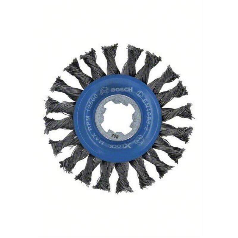 BOSCH Ø 115mm X-LOCK Scheibenbürste gezopfter Stahldraht115 mm 05 mm 12 mm