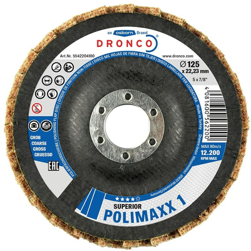 Image of 115X22.23MM Polimaxx 3 Flap Disc Conical - Dronco