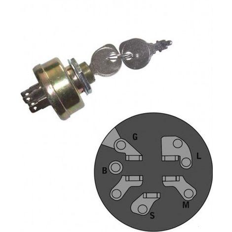 118450065/1 - Contacteur à clé pour tondeuse autoportée GGP / Castelgarden / AYP