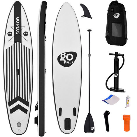 11FT Inflatable Stand Up PVC Paddle Board Non-Slip Soft Surf Deck W/ Pump 335CM