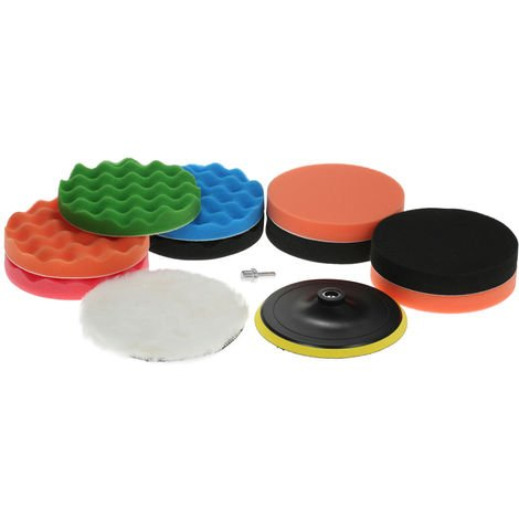 "11Pcs 7 ""180Mm Car Polishing Pads"
