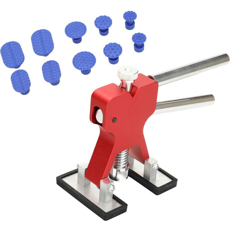 Happyshopping - 11pcs outil de dessin d'aspiration de voitures kit d'outils de reparation de bosses sans peinture costume d'auto, modele: rouge 13