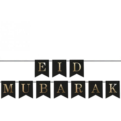 12 * 15 cm Eid Mubarak Ramadan Kareem Pennant Bunting Eid musulman Islam décorations 12 * 15 cm modèles type 2