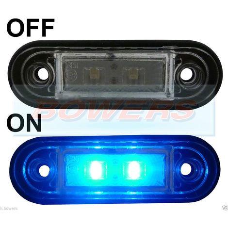 12/24 V LED Voiture Lampe Latérale Marqueur Voyant étanche pour Bus Camion Remorque Feu Arrière Bleu
