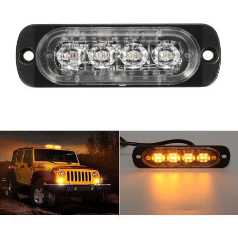 12-24V 4LED Slim Flash Light Bars Car Truck Vehicle Emergency Warning Strobe Lights