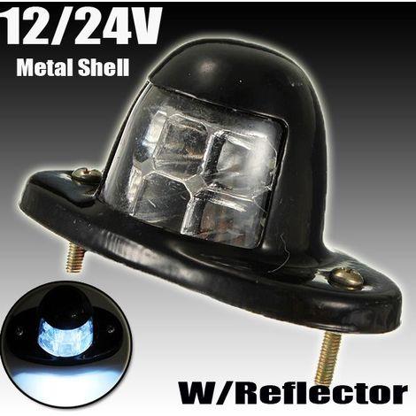 12/24V 6 LED Feux plaque immatriculation lampe lumière Feu remorques camion Eclairage