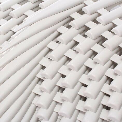 12 Barrera Reja de estaca de borde de jardín en el borde del césped en plástico blanco efecto madera LAVENTE
