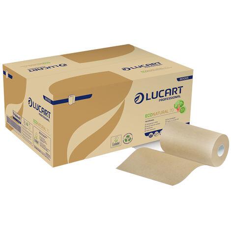 12 Bobinas de papel secamanos Econatural Ecolabel 70 metros