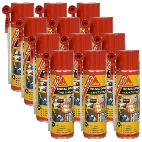 12 Cartouches Mousse expansive polyuréthane Boom XL multiposition 500 ml SIKA