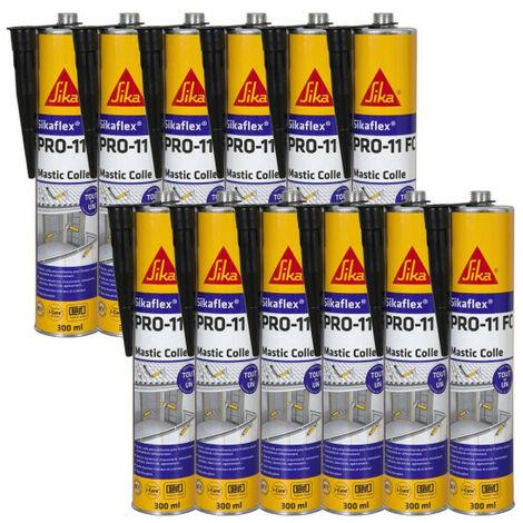 12 Colles mastic Sikaflex PRO 11 FC à prise rapide 300 ml SIKA - plusieurs modèles disponibles