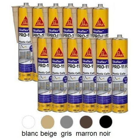 12 Colles mastic Sikaflex PRO 11 FC à prise rapide 300 ml SIKA - Ton: blanc