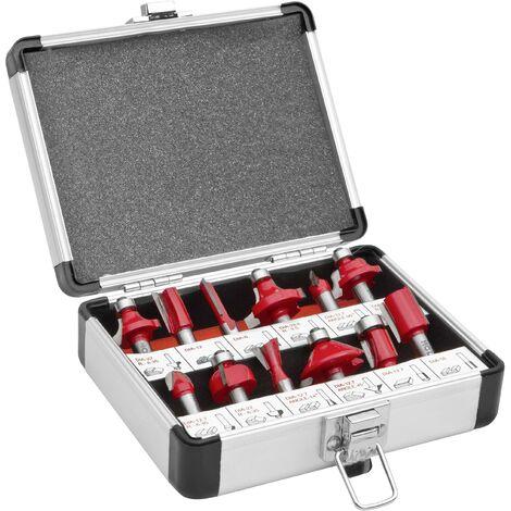 12 compartiments ; Partie supérieure de jeu de fraises dans un coffret en aluminium D991261