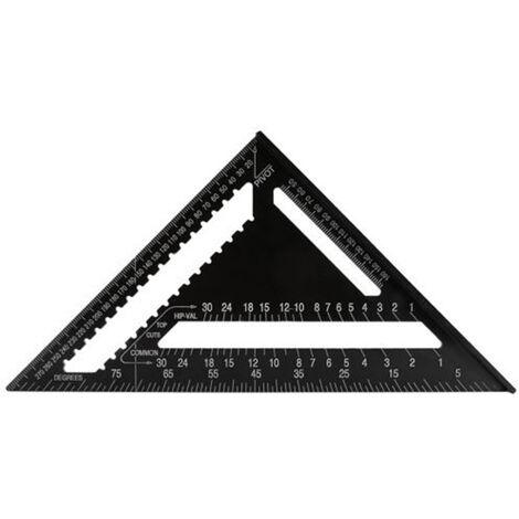 """12"""" Ensemble En Aluminium Carre Triangle Regle Menuisier Multifonction Regle De Mesure Travail Du Bois Outil"""