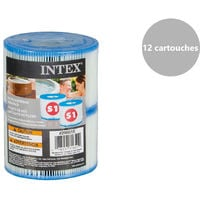 12 filtres pour spa gonflable - Intex