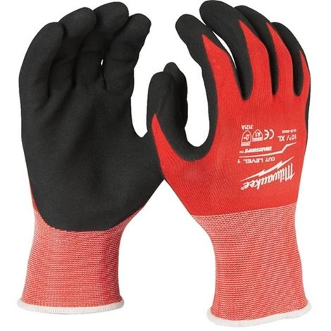 12 guantes anticorte Nivel 1 - XL/10 - 12uds MILWAUKEE 4932471616