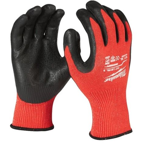 12 guantes anticorte Nivel 3 - XL/10 - 12uds MILWAUKEE 4932471620