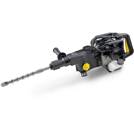 1,2 kW Perceuse à percussion thermique (Moteur à essence 2 temps, 1700 Nm Torque, Fonction de forage et forage dimpact) Marteau Piqueur