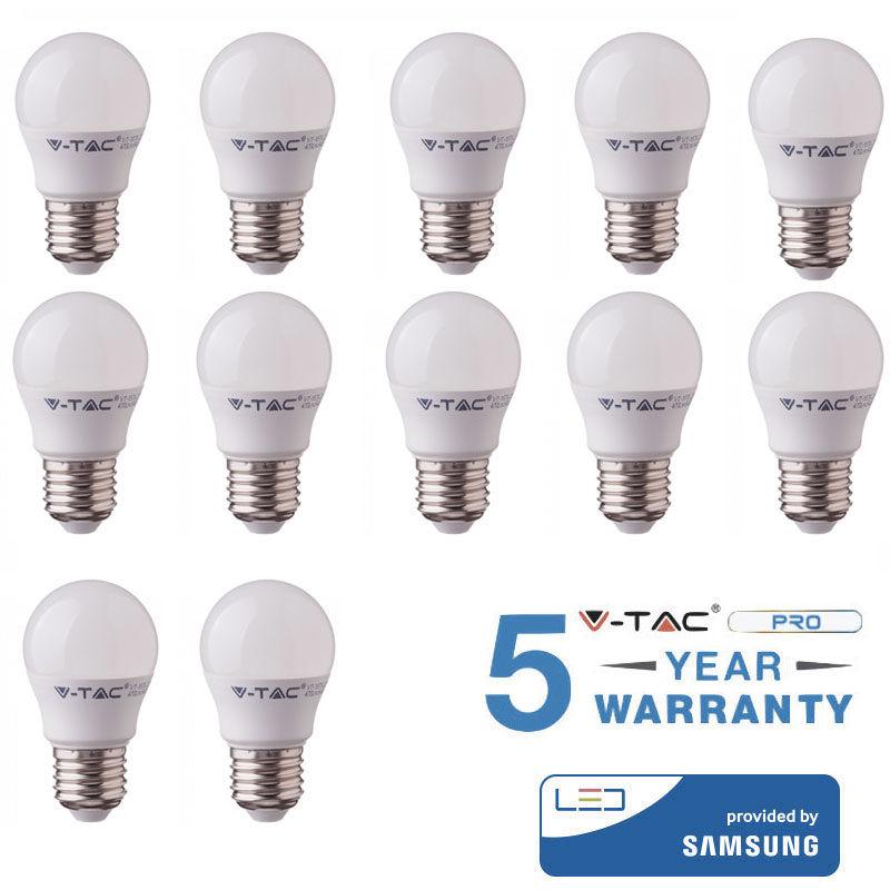 12 LAMPADINE LED V-TAC BULBO E27 5.5 W LAMPADINE LUCE CALDA FREDDA NATURALE-Fredda