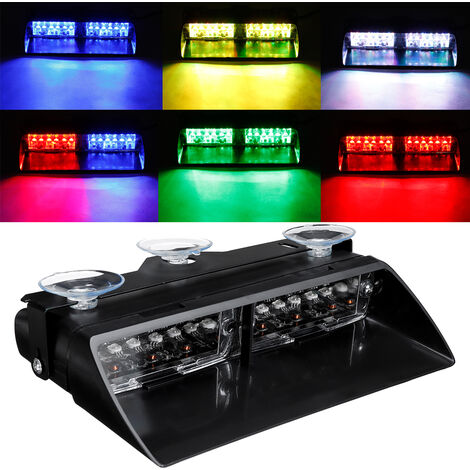 12 LED 12V Feux Pénétration Gyrophare stroboscopique 18 modèle flash Pare-brise