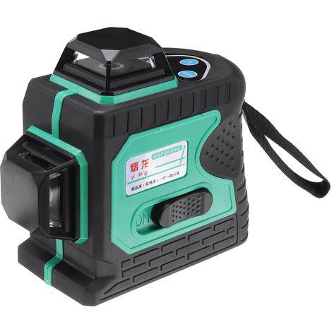 12 Line 360  Horizontal Vertical Cross 3D Blue Light Nivel láser Medida de autonivelación Rayo láser súper potente Hasaki
