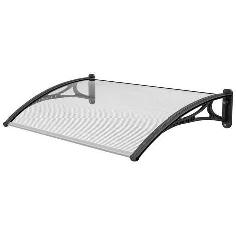 1.2 m Door Canopy Awning Shelter Patio Cover Extendable Canopies Black (CP0002)