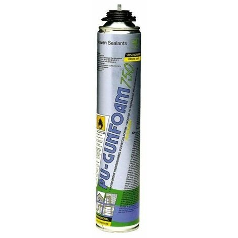 12 mousse polyurethane gunfoam zw aerosol 750 ml pistolable