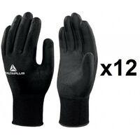 12 paires de gants tricot polyamide / paume PU sans latex VV702NO Delta Plus- plusieurs modèles disponibles