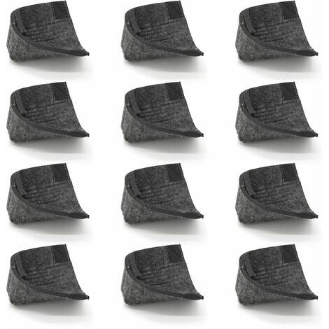 12 Patins de sol en feutre - Pieds de protection Tables et Bancs Base Metal U