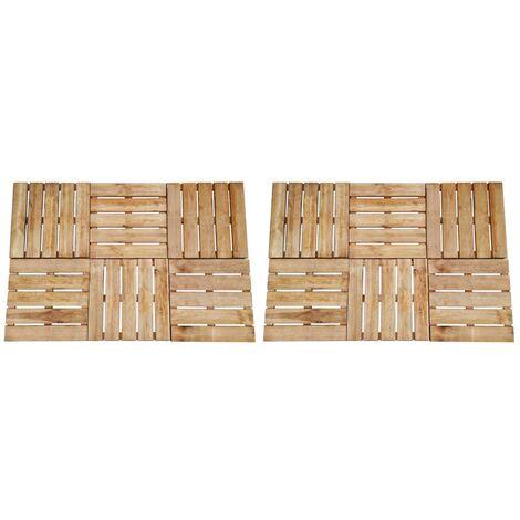 12 pcs Decking Tiles 50x50 cm Wood Brown
