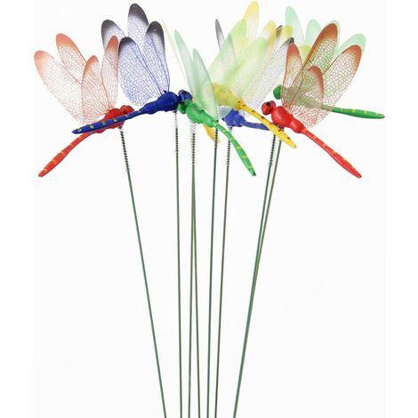 12 Pcs Dragonflies Handmade Decoration Handmade Garden Decorations Outdoor Garden Garden Lawn Decor Gift, Home Gift Souvenir Batteries Outdoor Planters Flowerpot Bed Garden Decor