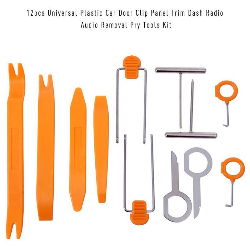12 Pcs Universel En Plastique De Porte De Voiture Clip Panneau Garniture Dash Radio Enlevement Audio Open Pry Outils Kit