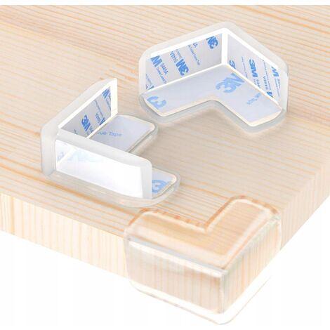 12 pièces de coin de table d'angle anti-collision transparent pour enfants table basse coin en verre protection anti-collision pour bébé coin anti-collision transparent pour enfants visage souriant en forme de L