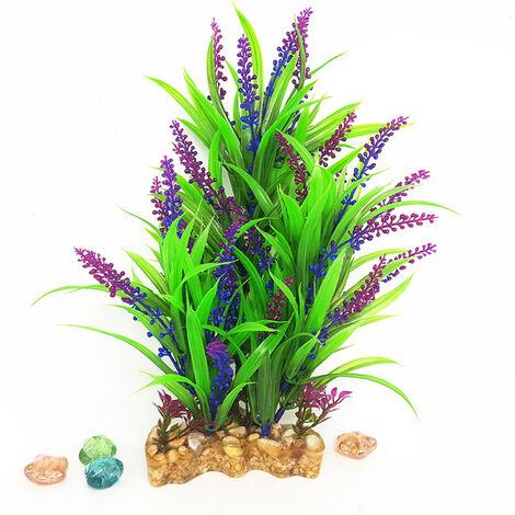 12 pulgadas de alto acuario plantas artificiales de plastico artificial