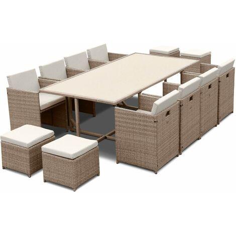 12-seater rattan table set - Vabo 12