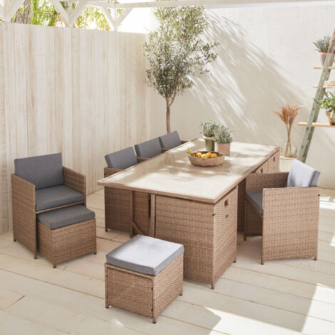 """main image of """"12-seater rattan table set - Vabo 12"""""""