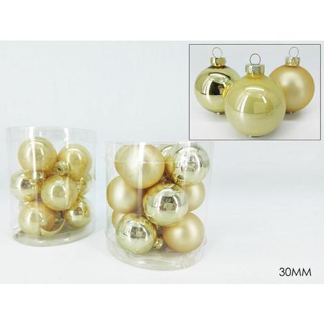 Immagini Natale Oro.12 Sfera Natalizia Palle In Vetro Per Albero Di Natale Oro Addobbi Natale 30mm