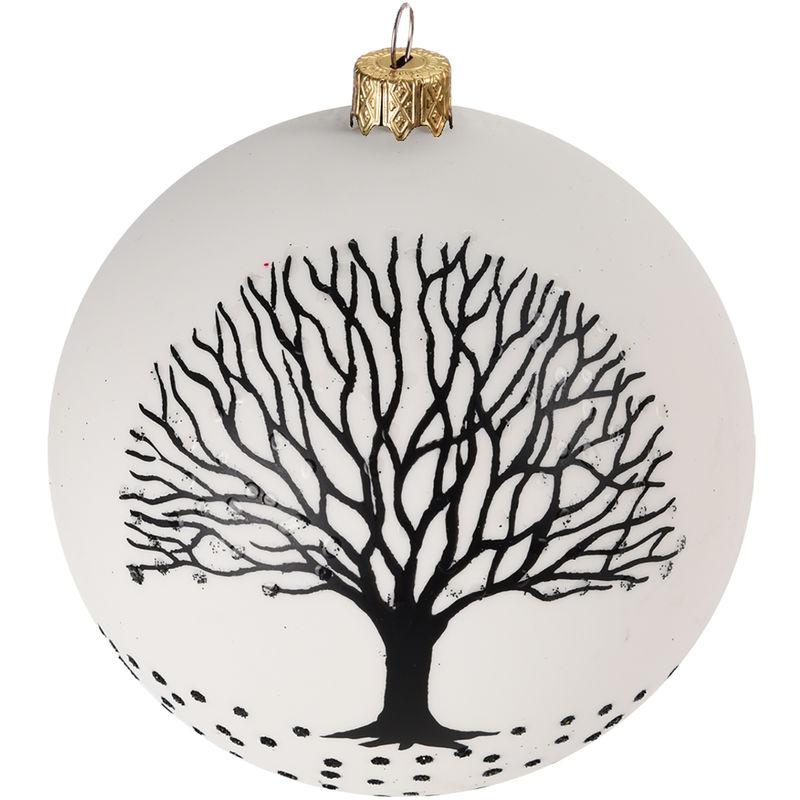 Weihnachtskugeln Ø6cm 2 Sorten Christbaumkugeln Baumschmuck Schwarz//Weiß 12tlg