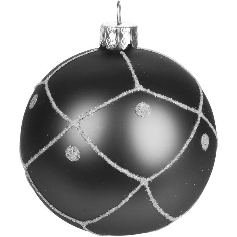 Christbaumkugeln Grau.12 Stuck Weihnachtskugeln O6cm 4 Sorten Schwarz Blau Braun Und Grau Glaskugeln Weihnachtsbaumkugeln Christbaumkugeln Christbaumschmuck Baumschmuck