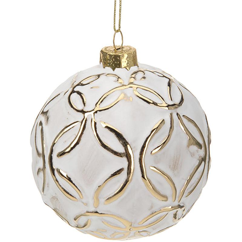 Christbaumkugeln Weiß Gold.12 Stück Weihnachtskugeln ø8cm 4 Sorten Weiß Und Gold Glaskugeln Weihnachtsbaumkugeln Christbaumkugeln Christbaumschmuck Baumschmuck Dekokugeln