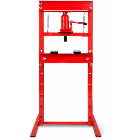 12 T Presse hydraulique datelier (635 mm Hauteur de travail, Réglable 8 niveaux, 425 mm Largeur de travail)