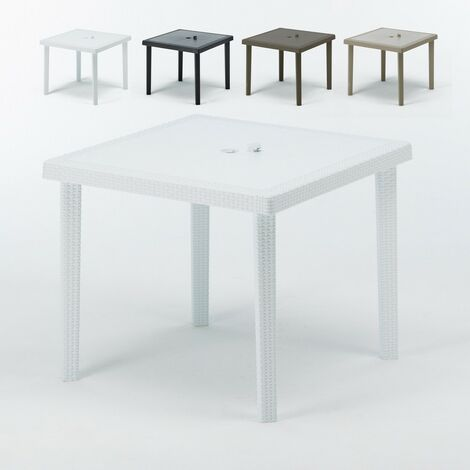 Tavoli Di Plastica Quadrati.12 Tavoli Bar Poly Rattan Quadrati 90x90 Grand Soleil Boheme