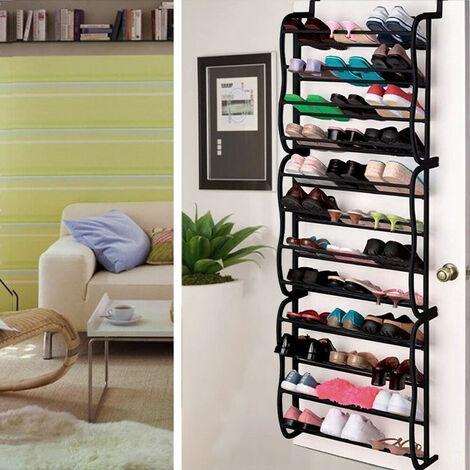 12 Tier Over The Door Hanging Shelf Shoe Rack Storage Organizer Rack Holder