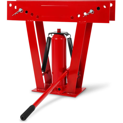 """12 Tons Hydraulic Pipe Bender (6 Dies 1/2"""" - 2"""", Pumping Lever, Up to 90°) Bending Machine"""