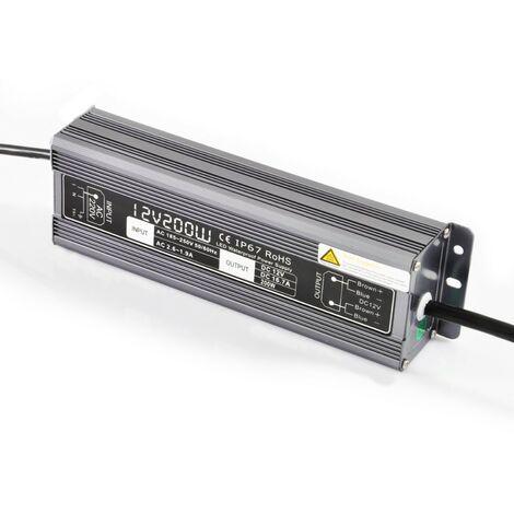 12 V/200 Watt de suministro de energía a prueba de agua para la cinta de LED