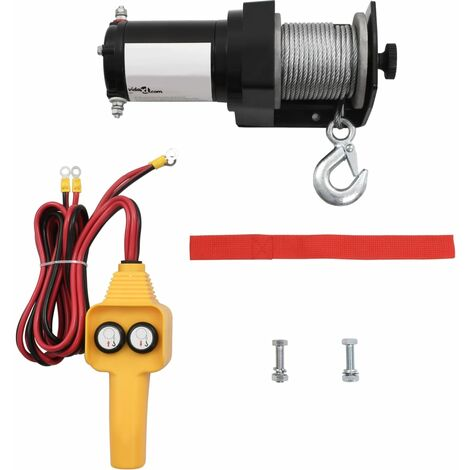 """main image of """"12 V Electric Winch 907 KG Wire Remote Control8825-Serial number"""""""