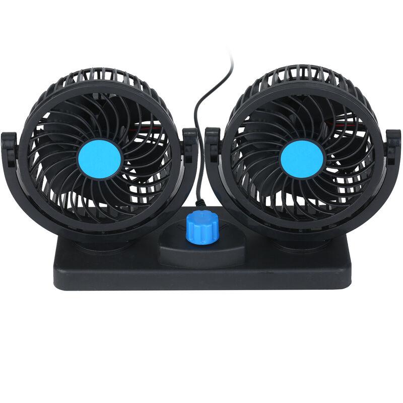 Kkmoon 12 V, Ventola di raffreddamento del vento a doppia testa USB, ventilatore di raffreddamento per au