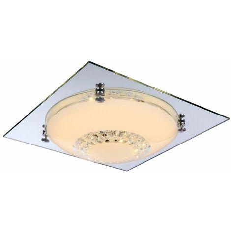 12 vatios LED techo lámpara de cristal de cromo luz del espejo EEK cuadrada A Globo 48251-12