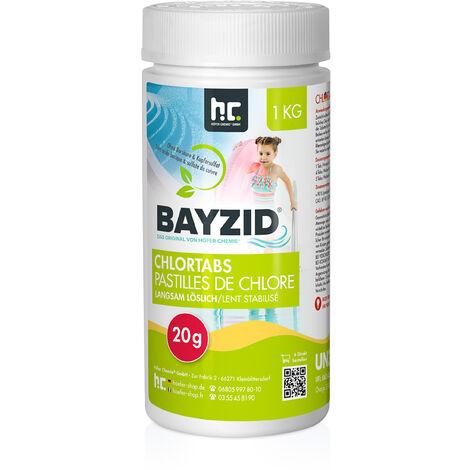 12 x 1 kg pastilles de chlore lent soluble 20 g